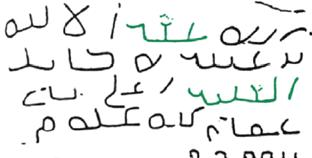 Pre Islamic Arabic Jazm Inscription Of Umm Al Jimal Found South Damascus Syria Dated To 4th Or 5th Century 18 Highlighted In Green Are The Words